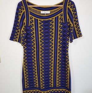 Trina Turk Aztec Shift Sweater Dress